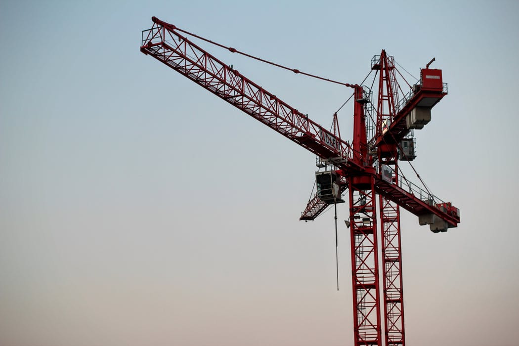 Construction site's scaffoldings